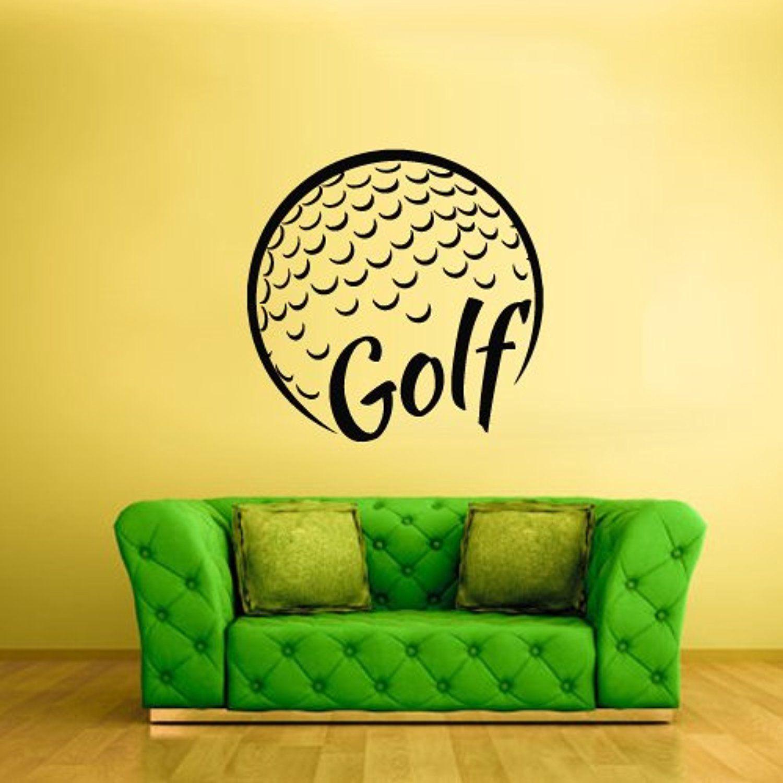 Wall Vinyl Sticker Decals Decor Basketball Ball Golf Sport Word Sign ...