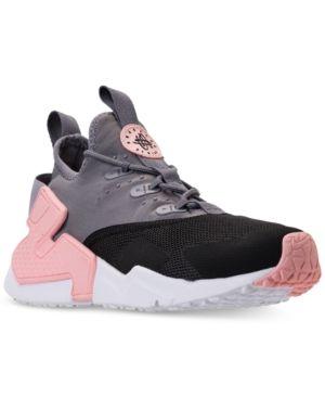 359b1ccda2 Nike Big Girls' Huarache Drift Casual Sneakers from Finish Line - Black 6.5