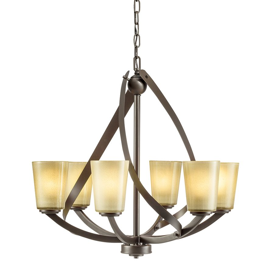 Kichler lighting layla 2421 in 6 light olde bronze etched glass kichler lighting layla 2421 in 6 light olde bronze etched glass shaded chandelier mozeypictures Image collections