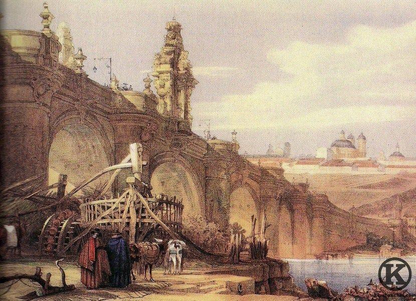 Puente De Toledo Visto Por El Dibujante Ingles David Roberts 1837 Smart Art Sports Art Scottish Landscape
