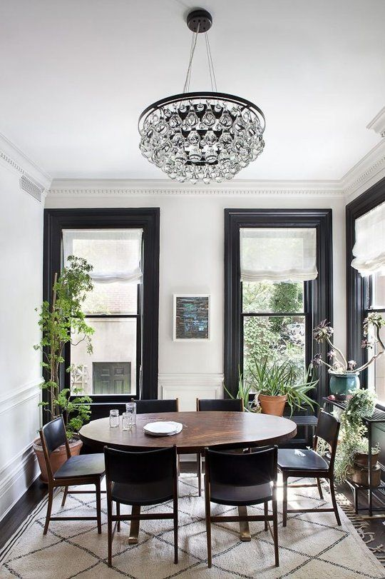 Design Dare Paint Your Trim Black Black And White Dining Room White Dining Room Dining Room Design #trim #for #living #room