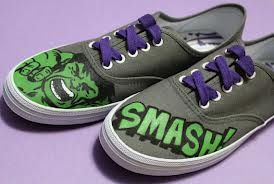 14381cdeddfe0 hulk smash shoes.   nerd.   Shoes, Painted shoes, Hand painted shoes