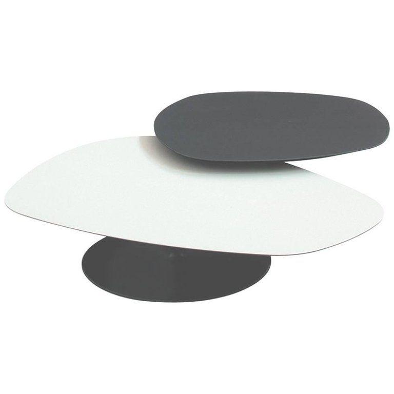 Moroso Phoenix Coffee Table With Metal Pedestal Base Various