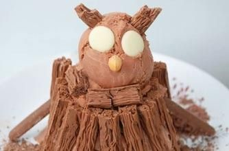 Owl Ice Cream.   Lovers of the Gruffalo book should make this.  I made a version for my kid and he ate it all up like a Gruffallo.