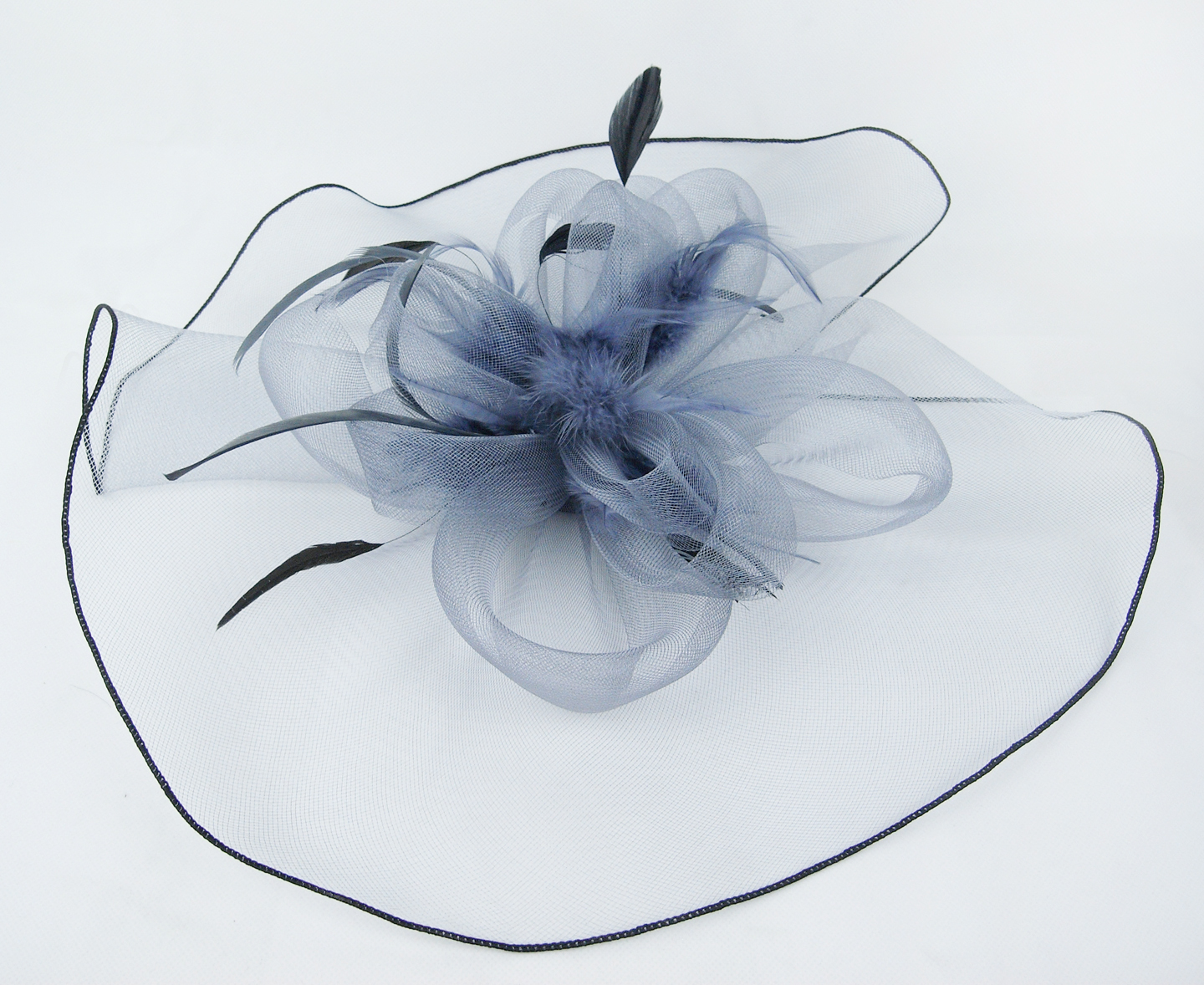 29.99$  Watch now - http://vizun.justgood.pw/vig/item.php?t=tx279ua10110 - Designer Satin Flower Hat Wedding Party Fascinator Headpiece Hair Flower Clip