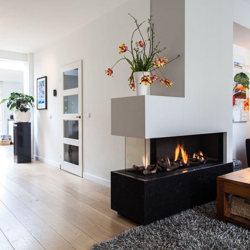 Vuur zichtbaar vanuit alle hoeken Haard in 2018 Pinterest - Design Living