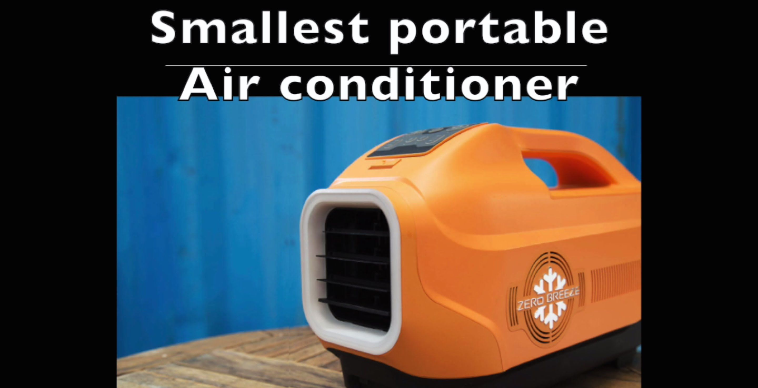 Zero Breeze battery operated air conditioner portable