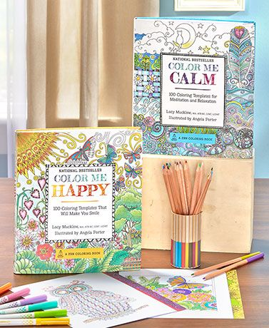 Step Away From The Chaos Of Everyday Life With Color Me Happy Or Calm Book For Adults This Guided Coloring Helps You Relax After A Long Day