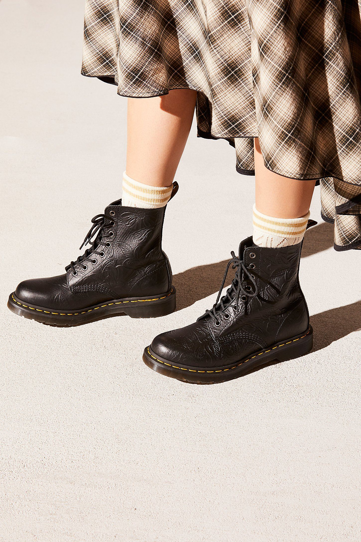 Dr Martens 1460 Pascal Floral Embossed Boots Doc Martens Boots Embossed Boots