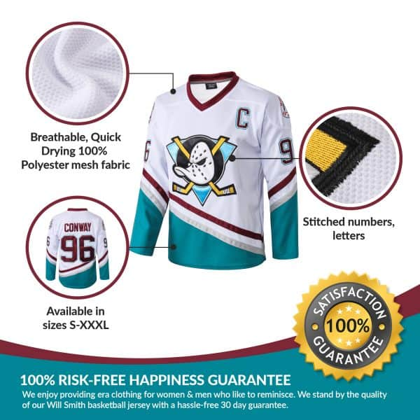 Charlie Conway 96 Mighty Ducks Ice Hockey Jersey Aflgo Ice Hockey Jersey Charlie Conway Hockey Jersey