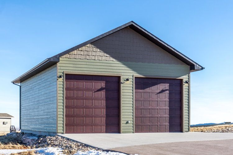 Materials By Builders Firstsource Builder Delta Construction Of Spearfish South Dakota Sheds And Garages In 2019 Exterior Doors Garage Doors Exte