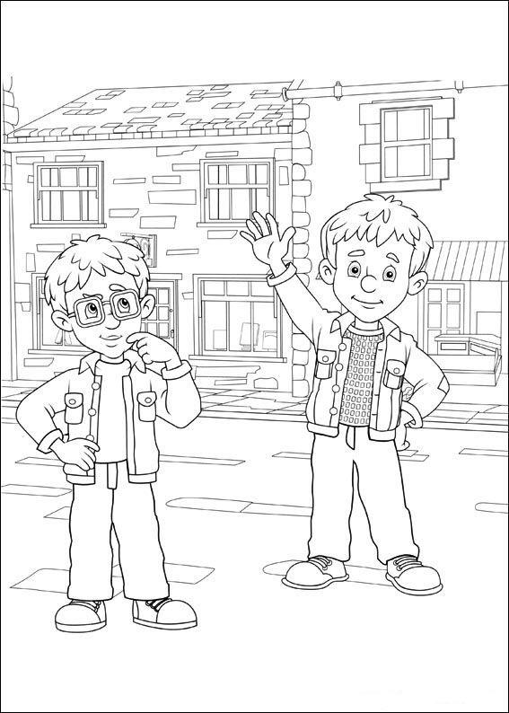 Brandweerman Sam Kleurplaten voor kinderen. Kleurplaat en afdrukken tekenen nº 50