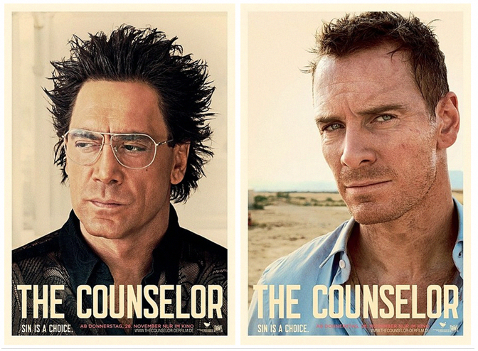 "[In the promotional posters for ""The Counselor""]...The men"