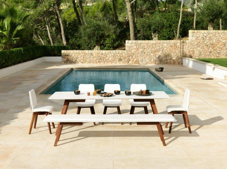 Table de jardin bois, résine tressée, aluminium ? | Idées déco ...