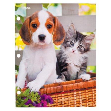 Mead Purrs Grrrs Portfolio 2 Pocket Paper Beagle Kitten