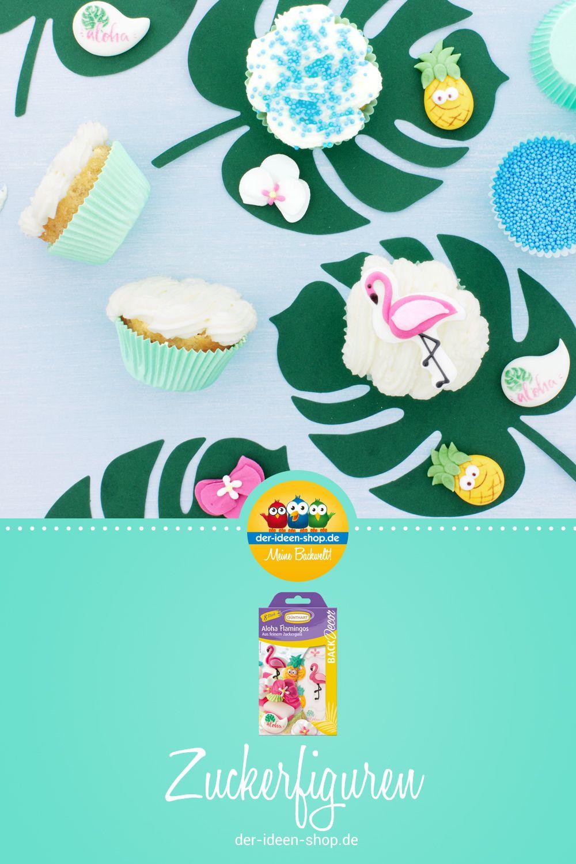 Backdecor Zucker Flamingo Set Zuckerfiguren Sommerliche