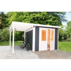 Wolff Finnhaus Gartenhaus Pulti Softline 3024 6 15 X 2 86 M Wandstarke 28 Mm Disenod In 2020 Garden Huts Home And Garden Garden Design