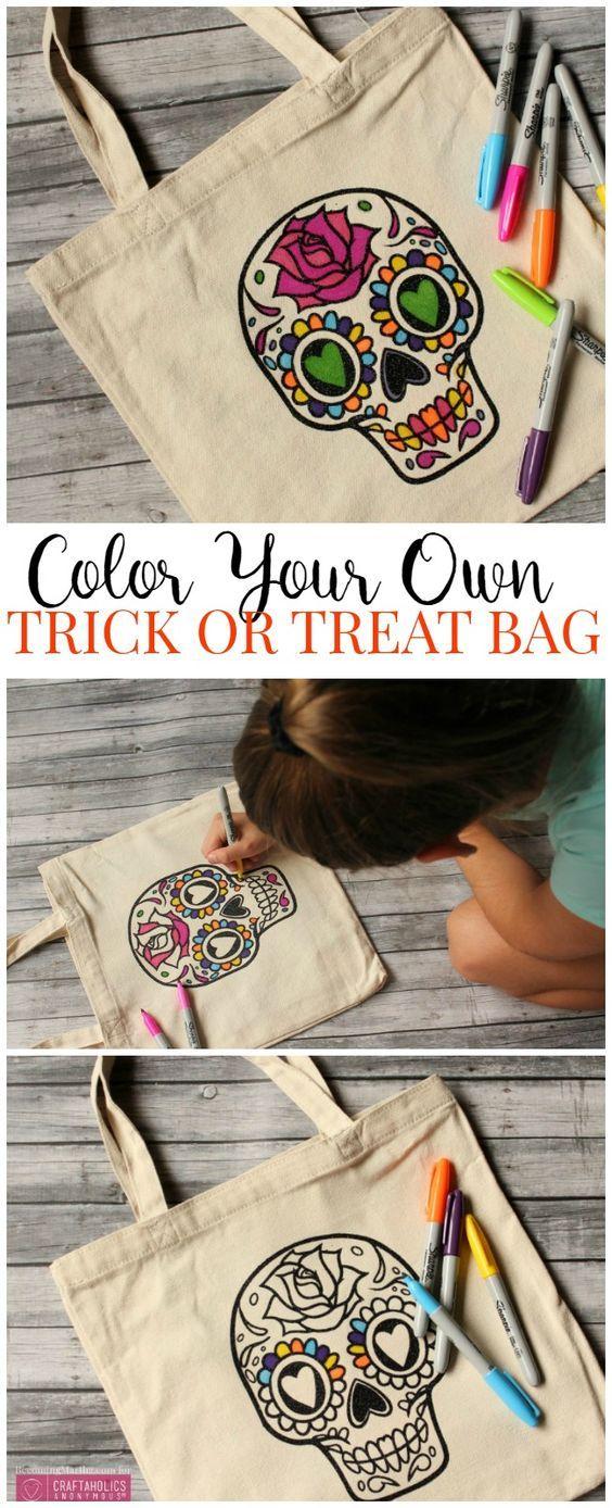 Create your own Halloween bag! Fun idea for a halloween