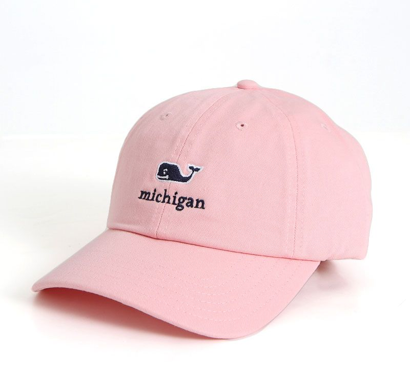 Vineyard Vines Michigan Baseball Hat in Flamingo Pink  c5b3ae7a6663