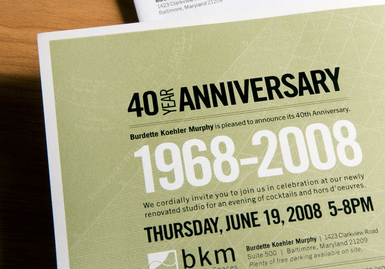 40th anniversary corporate invitation idea anniversary 40th