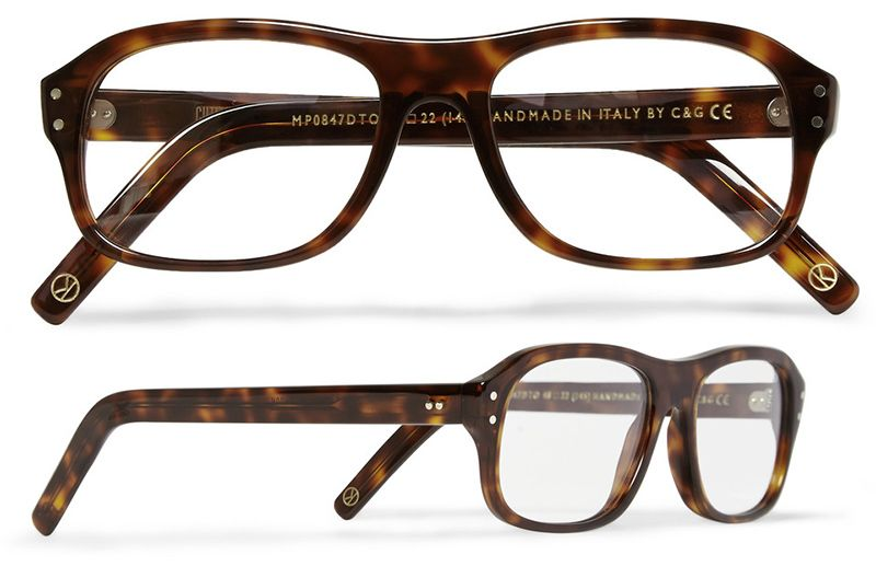 b05ef615f7 Cutler and Gross tortoiseshell acetate square-frame optical glasses ...