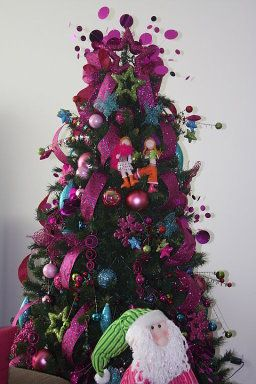 Decoracion con tela arboles navidenos buscar con google - Decoracion de arboles navidenos ...