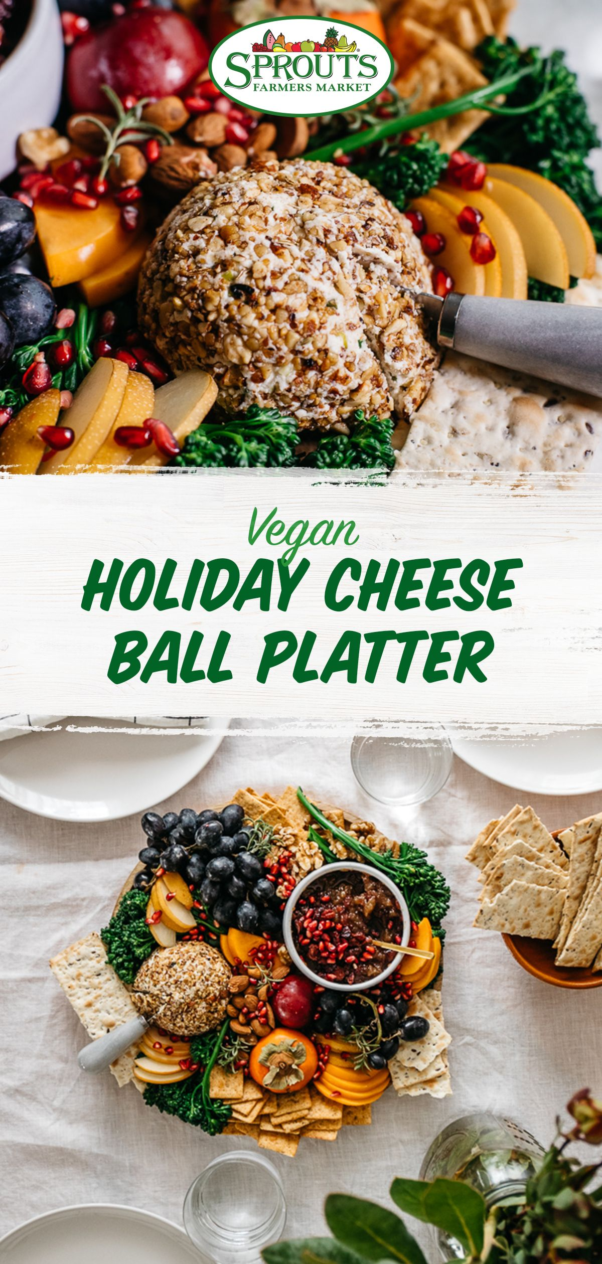 Vegan Holiday Cheese Ball Platter Shop Online Shopping List Digital Coupons Recipe Cheese Ball Holiday Cheese Vegan Holidays