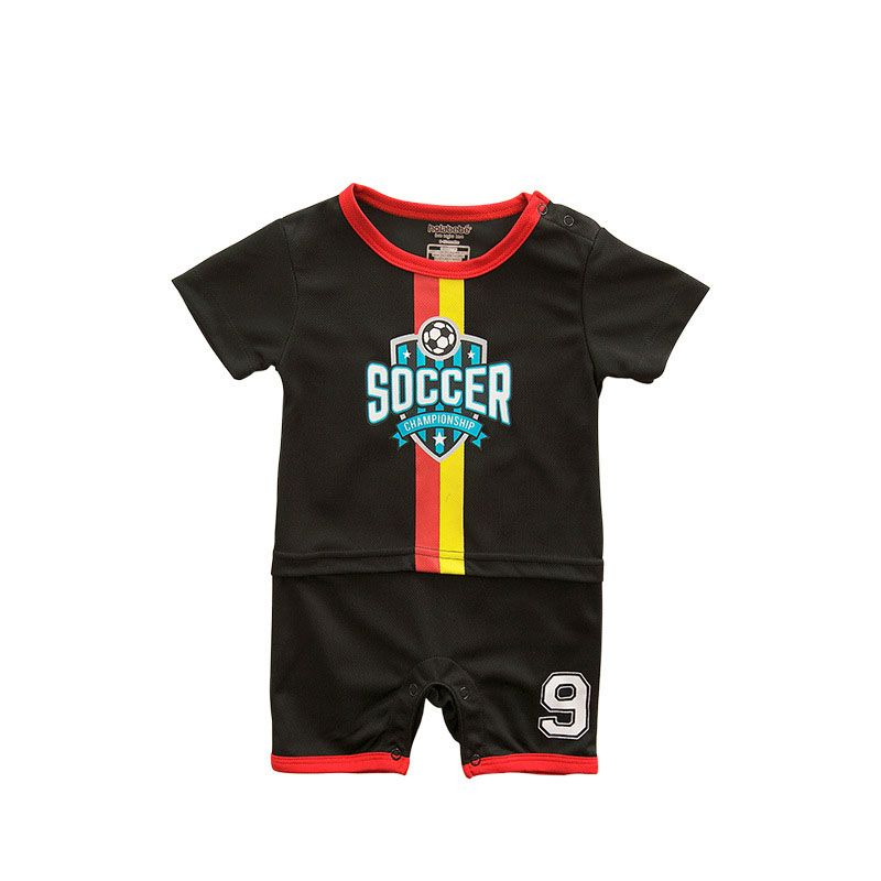 4d1f4ed21439 HIMIPOPO Active Baby Soccer Rompers Boys Summer Infant Football ...