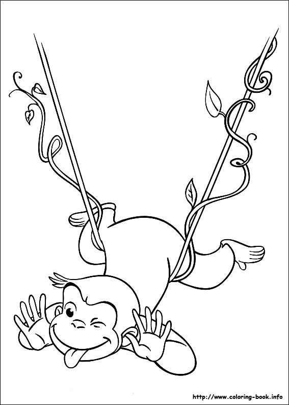 curious george coloring picture - Curious George Coloring Books