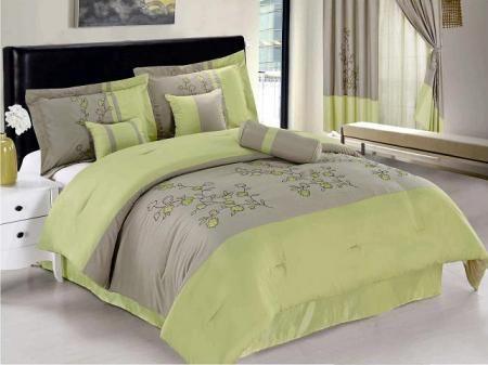 Green Grey Bedding New Apple Green Gray Vine Bedding Microfiber