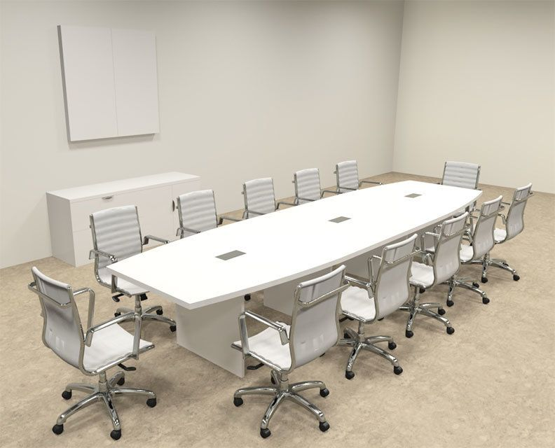 Modern Boat Shaped 14 Feet Conference Table Of Con C124 Modern Conference Table Conference Table Table