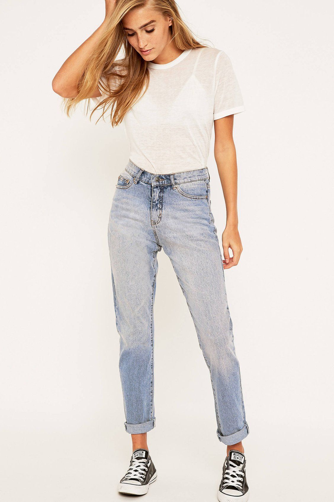 e66f715938ad Cheap Monday Donna Mid Blue Straight Leg Jeans in 2019