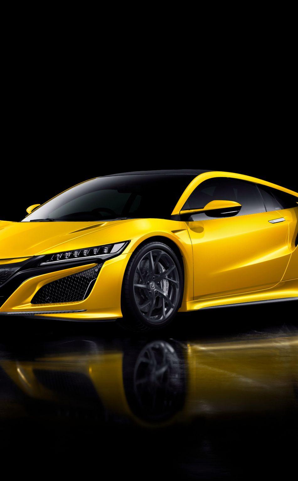 950x1534 Car Honda Nsx Yellow Car Wallpaper Yellow Car Nsx Car