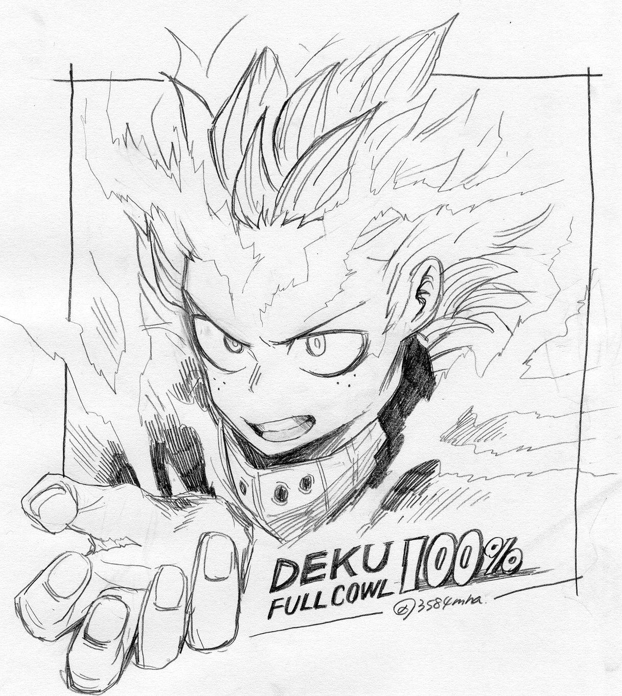 Midoriya Izuku Sketches Hero My Hero Academia