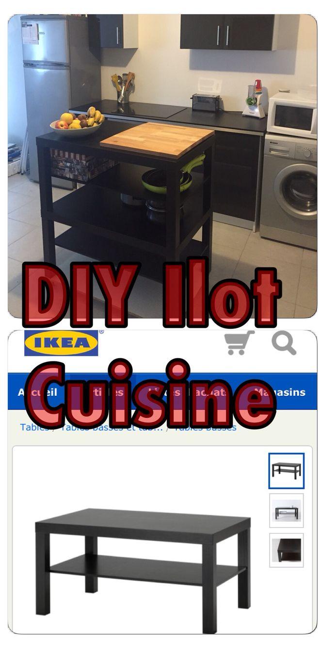 Petite Cuisine Et Ilot Central ~ Diy Ilot De Cuisine Avec 2 Tables Basses Ikea 19 99 L Unit Et