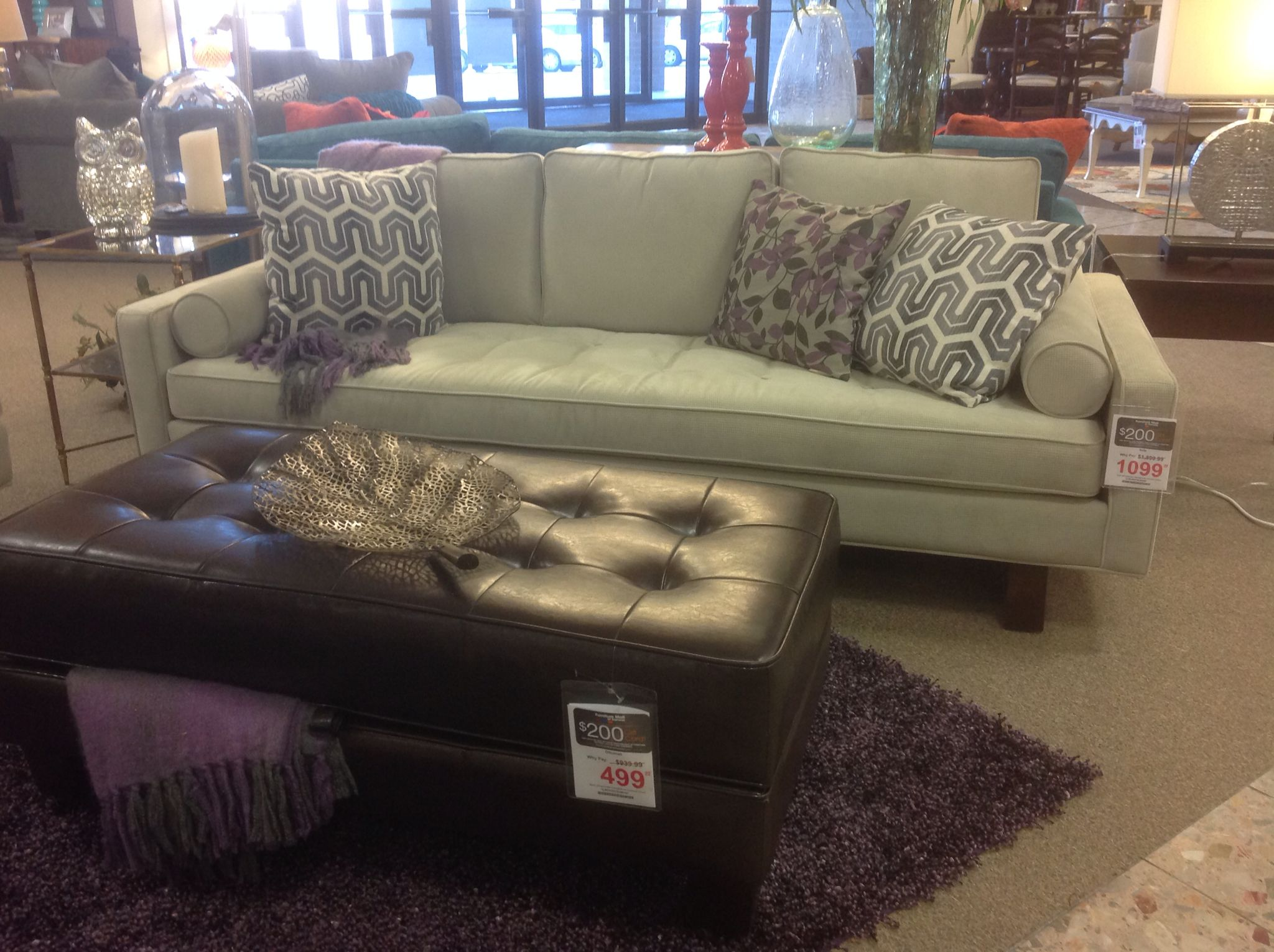 Flexsteel Sofa With Clean Lines See On The Showroom Floor At
