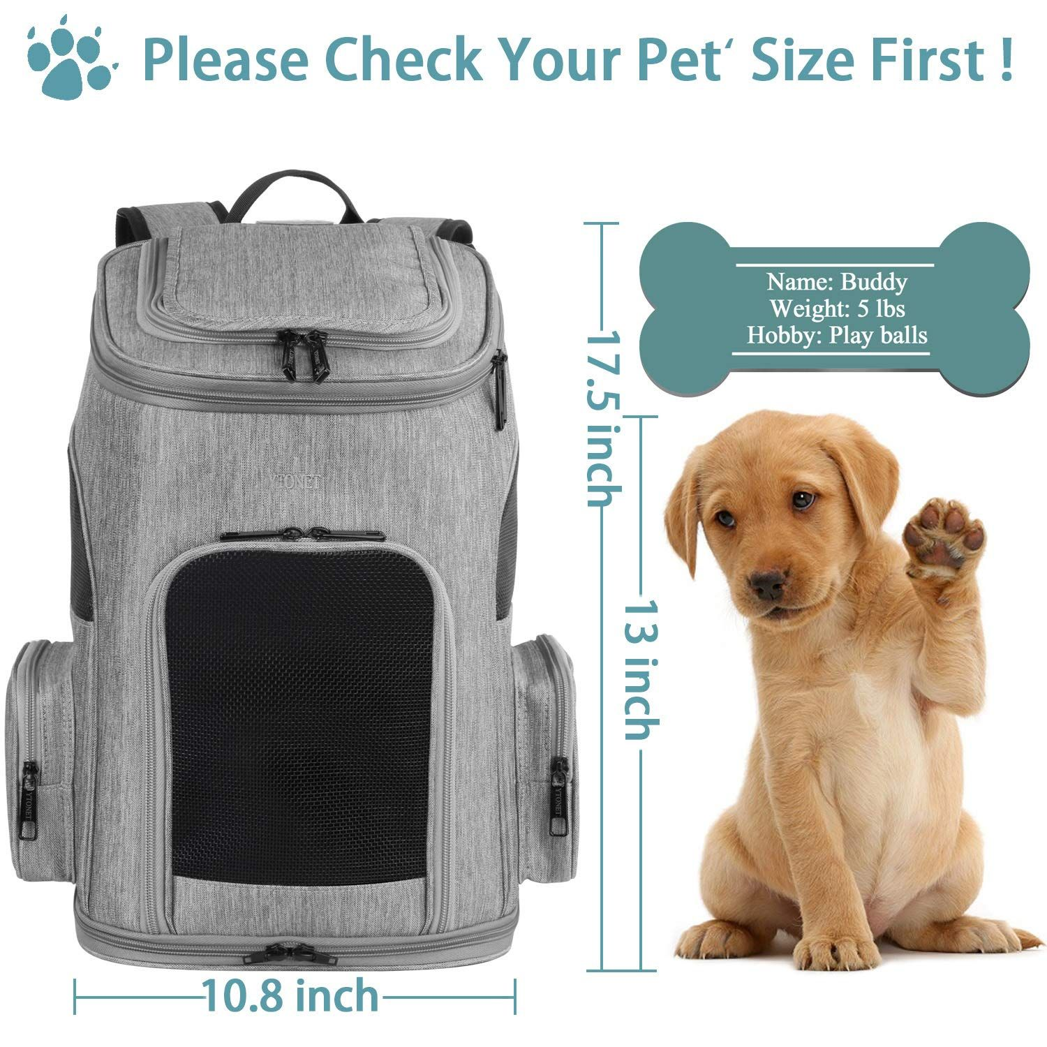 Ytonet Dog Backpack Pet Carrier Bag With Mesh For Small Dogs Cats Puppies Comfort Cat Backpack Bag Airline Approved Fo Pet Carrier Bag Dog Backpack Dog Carrier