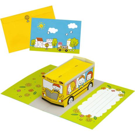 Pop Up Card School Bus Others Pop Up Cards Card Canon Creative Park Pop Up Cards Halloween Pop Up Cards School Bus