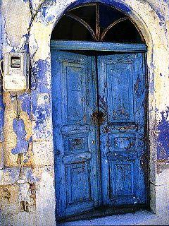 Greek street texture.