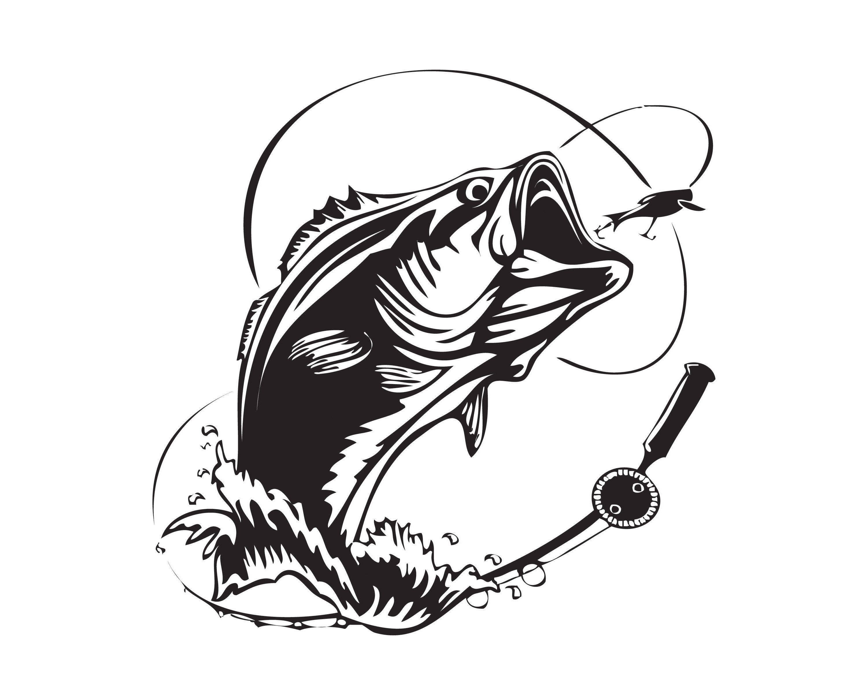 Download Bass Fishing Salt Fly Logo Angling Fish Hook Fresh Water Hunt Etsy Fish Logo Fishing Lure Svg Fishing Svg