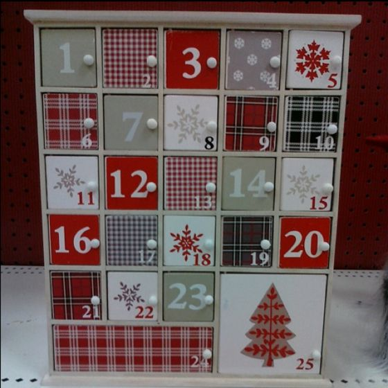 Wooden Advent Calendar With Cute Doors Wooden Advent Calendar