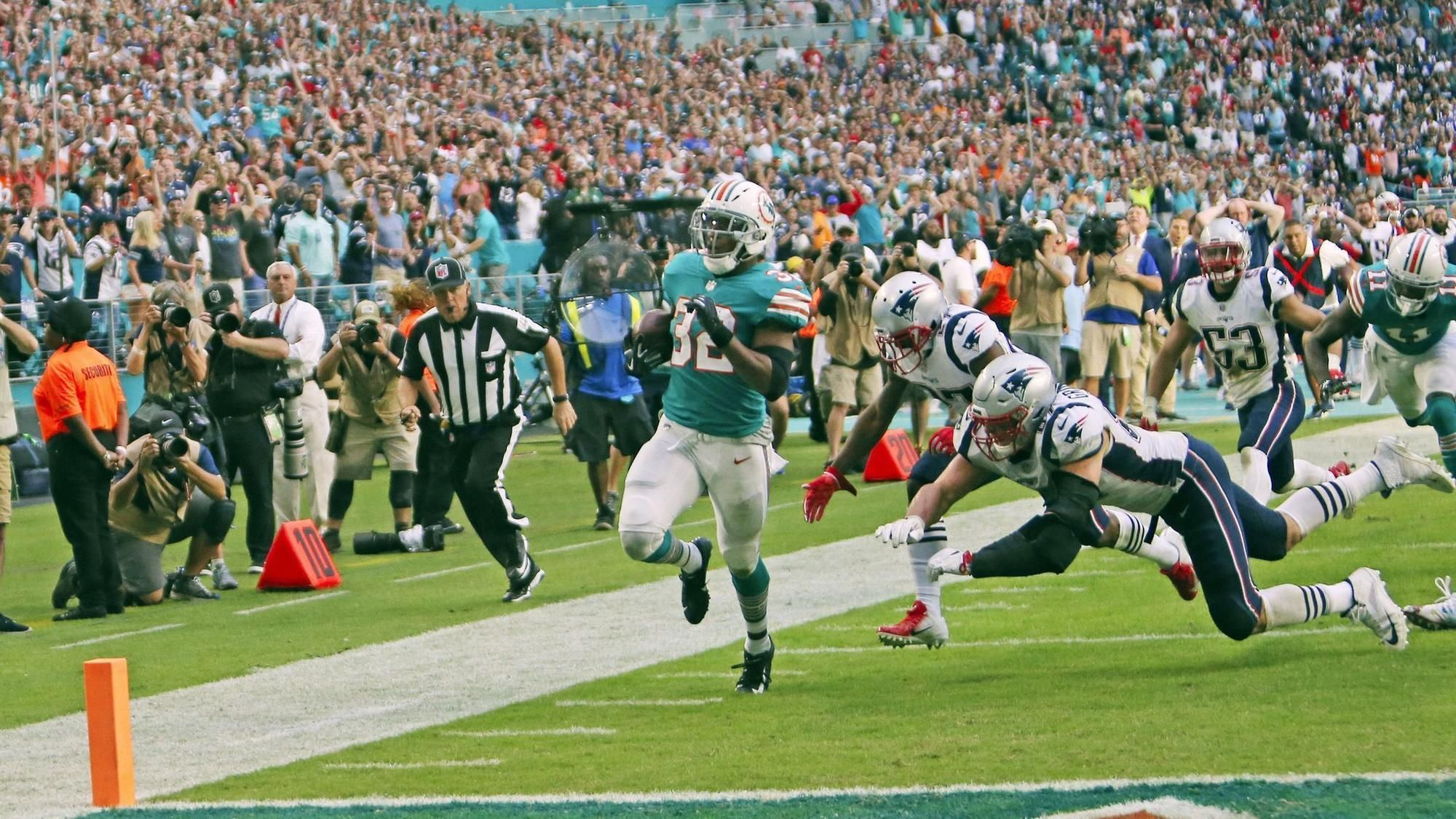 Football scored by Dolphins in Miami Miracle sells for