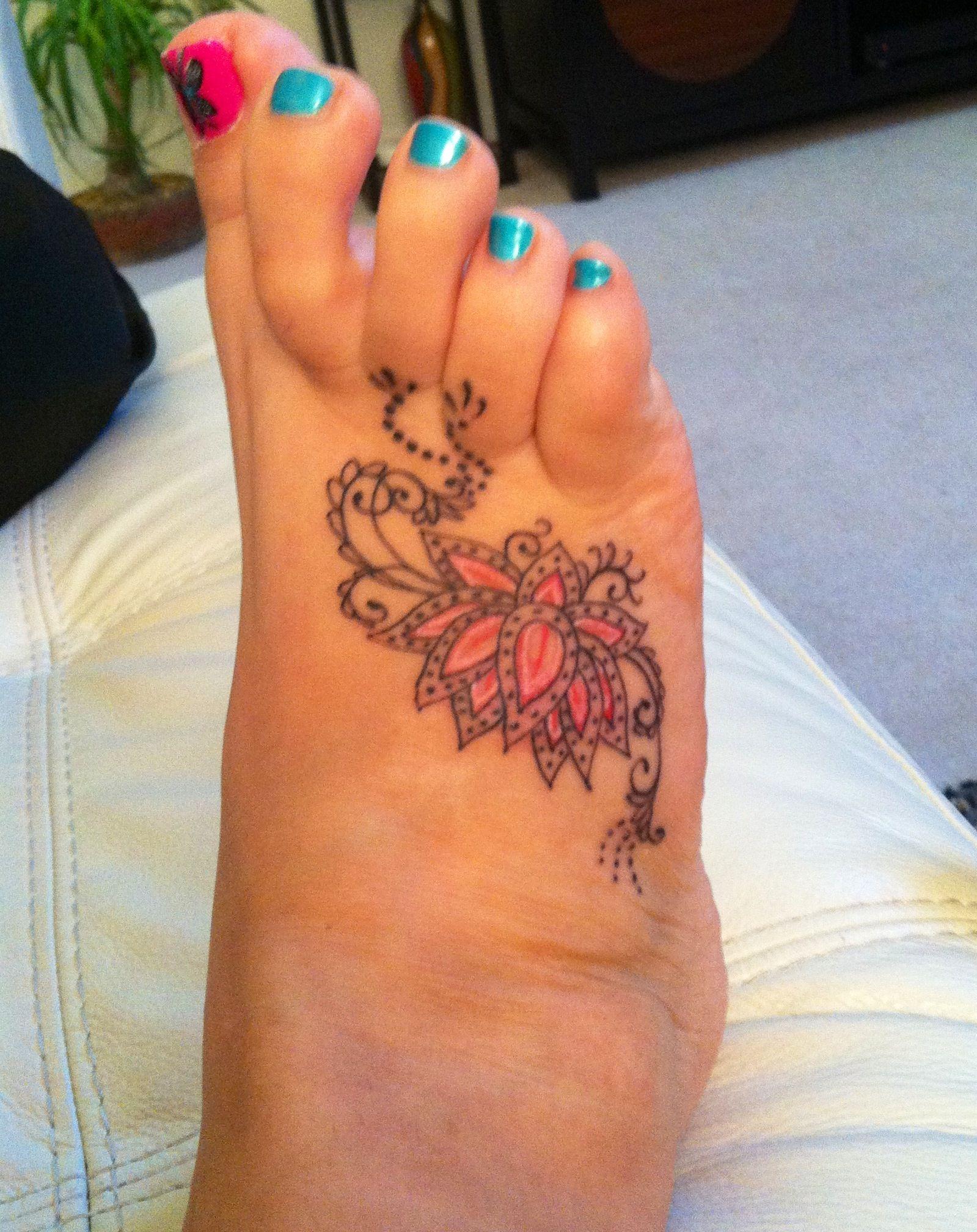 foot tattoo - lotus flower   tattoos   pinterest   lotus flower