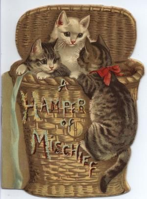 Ephemera Published By Raphael Tuck Amp Sons Kittens Vintage Vintage Cat Cat Art