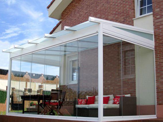 Cristal terraza cerrada toda con cristal decoraci n - Terraza de cristal ...