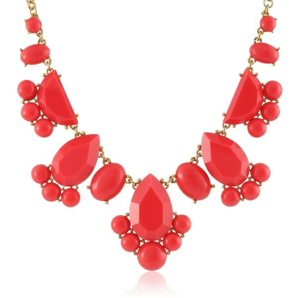 """kate spade new york Day Tripper Geranium Necklace, 18"""" ($58) ❤ liked on Polyvore featuring jewelry, necklaces, accessories, kate spade, kate spade necklace, cable chain necklace, bead jewellery and geometric jewelry"""