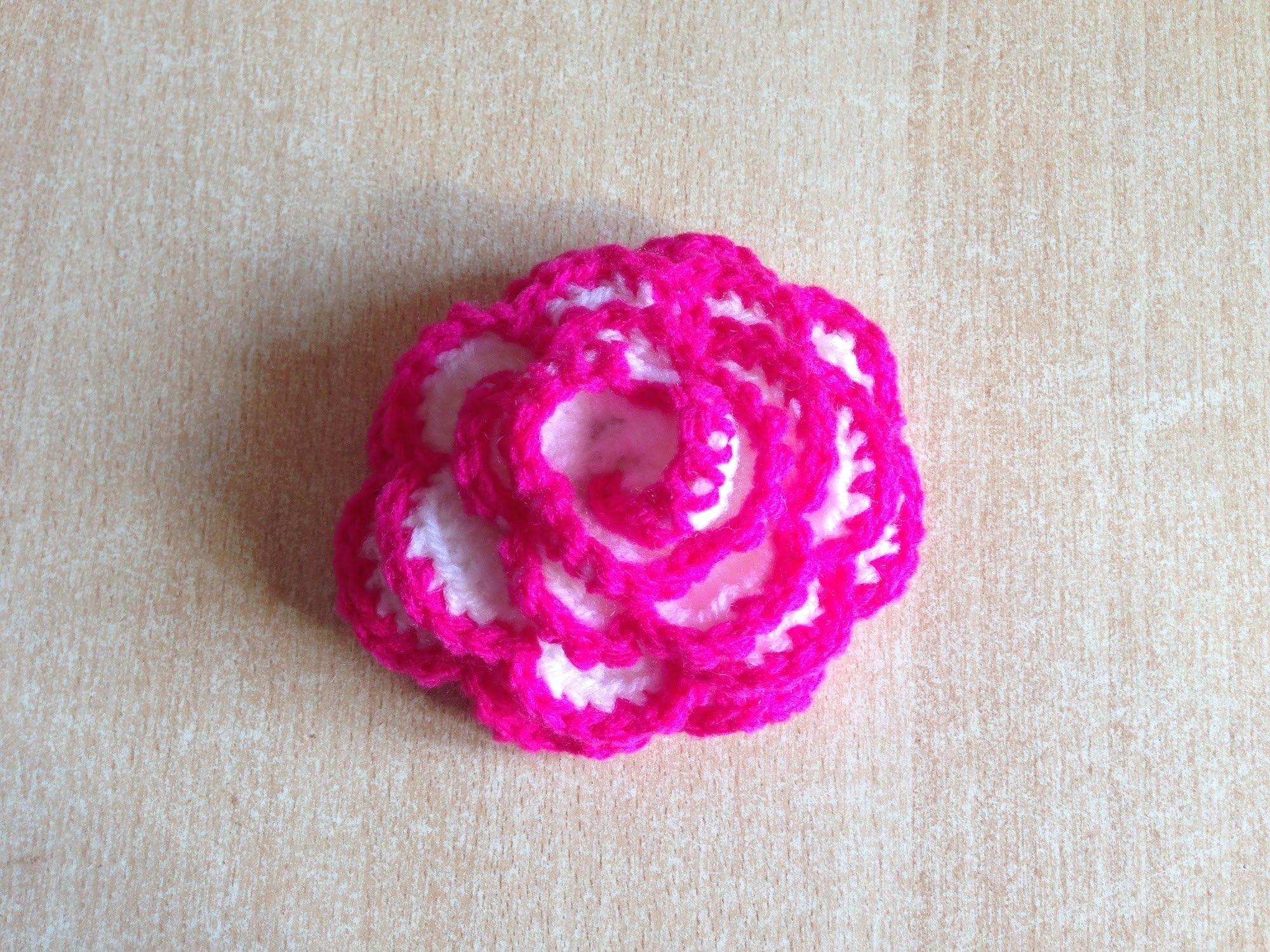 tuto rose facile au crochet fleurs pinterest le. Black Bedroom Furniture Sets. Home Design Ideas