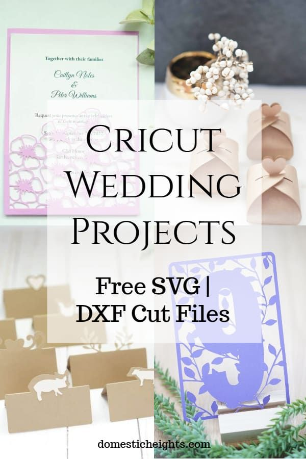 Cricut Wedding Ideas - DOMESTIC HEIGHTS