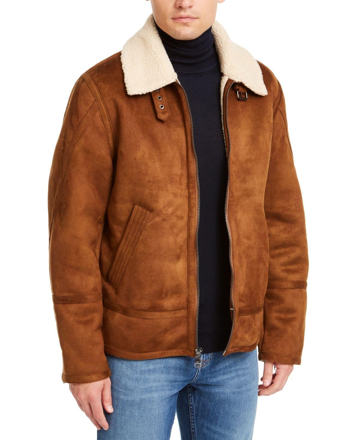 Calvin Klein Men S Faux Short Shearling Jacket Created For Macy S Reviews Coats Jackets Men Macy S In 2021 Jackets Men Fashion Mens Jackets Plus Size Men Outfits [ 1466 x 1200 Pixel ]