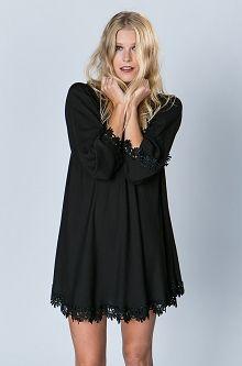 black lace shift